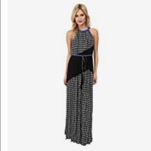 adrianna papell color block printed maxi